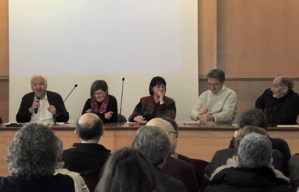 Ferran Mascarell, Mercè Gisbert, Vinyet Panyella, Josep Ferrer i Esteve León.